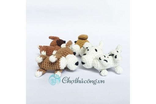 Móc khóa handmade - Chó móc len mini