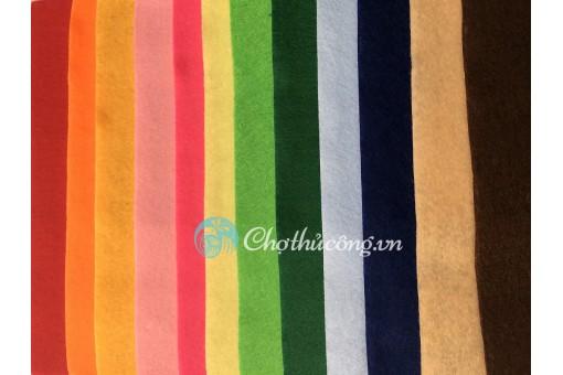 Combo 6 vải nỉ mềm 90X90cm (vải không dệt / vải dạ / soft felt)