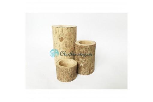 Set Bộ 3 khúc gỗ tự nhiên đa năng trang trí nhà cửa, cắm hoa, để nến