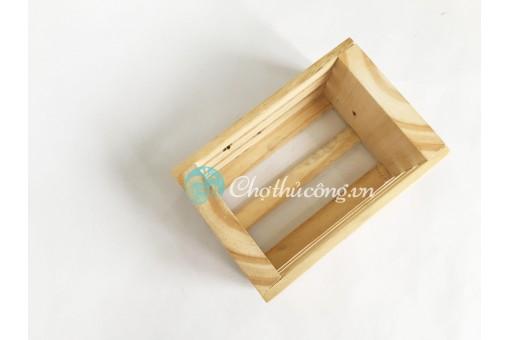 Khay gỗ pallet mini trang trí - kệ gỗ đa năng