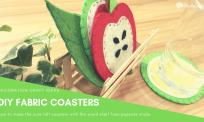 Hướng dẫn làm lót ly mùa hè cùng kệ đơn giản | DIY easy felt coasters with shefl for summer