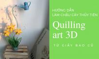 Hướng dẫn làm chậu thủy tiên handmade giấy xoắn | Quilling flowers 3D