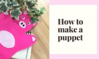 Tự làm rối bàn tay handmade đơn giản cho bé chưa đến 10 phút