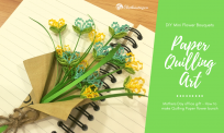 Hướng dẫn làm bó hoa handmade từ giấy xoắn quilling| DIY Flower Paper Quilling