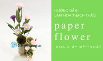 Hướng dẫn làm hoa thạch thảo từ giấy mỹ thuật | DIY paper flower
