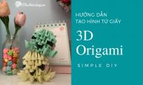 Hướng dẫn xếp bạch tuộc giấy 3D trang trí đơn giản | 3D Origami Tutorial